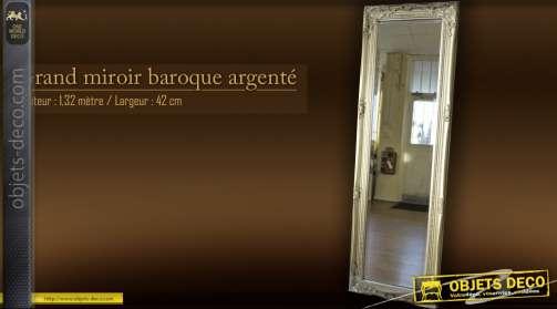 Grand miroir silver baroque