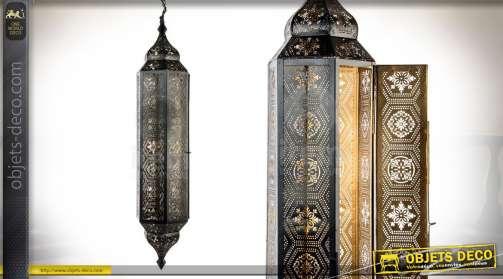 Suspension lanterne en métal de style oriental avec éléctrification 1 x E24.