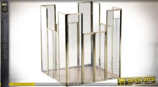 Porte photophore design de luxe en laison doré