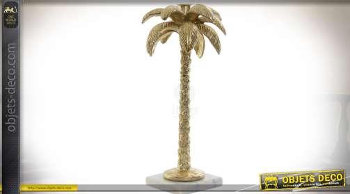 Chandelier exotique en forme de palmier doré : 32,5 cm
