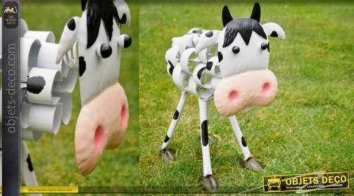 Vache stylisée en métal collec ferme moderne