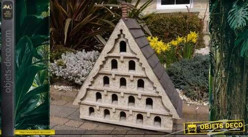 Abri pour oiseaux en bois