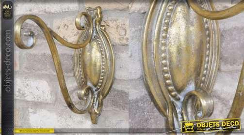 Potence de lanterne murale en métal formes arrondies