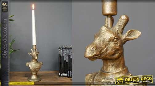Chandelier en resine forme animalière finition vieu doré