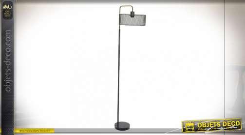 LAMPADAIRE MÉTAL MARBRE 30X25X152 GRIS