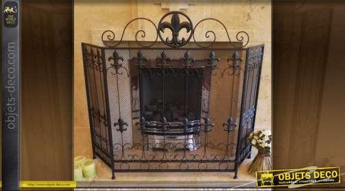 accessoires de chemin e pare feu chenets panier. Black Bedroom Furniture Sets. Home Design Ideas