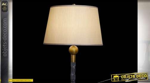 LAMPADAIRE VERRE MÉTAL 47X47X160 4,7 KG. TABLE