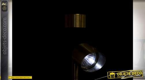 LAMPE SOLAIRE LED ACIER 5,5X5,5X32,5 3L. 6H.