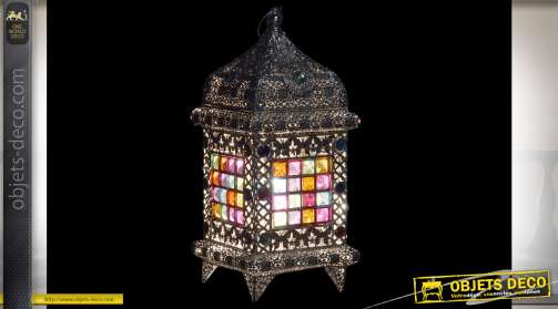 LAMPE DE TABLE MÉTAL ACRYLIQUE 18X18X16 ARGENTÉ