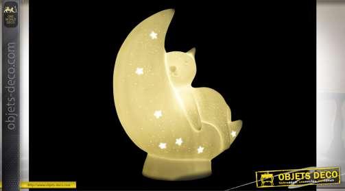 LAMPE DE TABLE PORCELAINE LED 19,8X9,6X24,5 BLANC