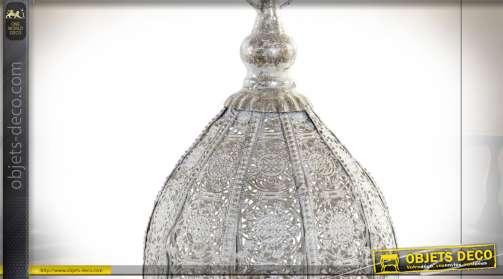LAMPE DE TABLE MÉTAL ACRYLIQUE 19X19X52 VIEILLI
