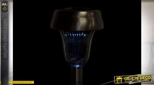 LAMPE SOLAIRE LED ACIER 7,5X7,5X34,5 6H. EXTERIEUR