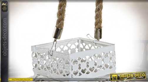 LAMPE DE TABLE MÉTAL ACRYLIQUE 18X18X30 BLANC