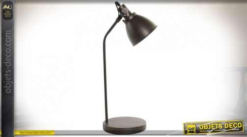 LAMPE DE TABLE MÉTAL VERRE 30X22X67 22 VIEILLI