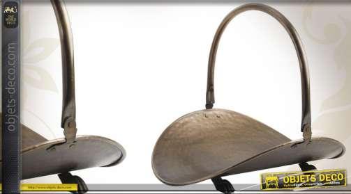 Panier à bûche décoratif finition bronze