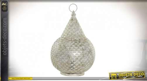 LAMPE DE TABLE MÉTAL 28X28X44 BLANC