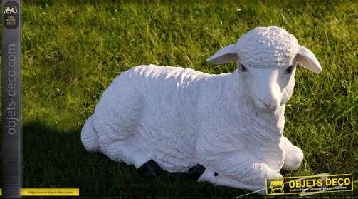 Statuette de jardin déco animalière mouton