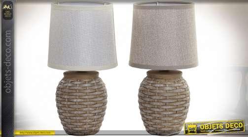 LAMPE DE CHEVET GRÈS LIN 15X15X29 2 MOD.