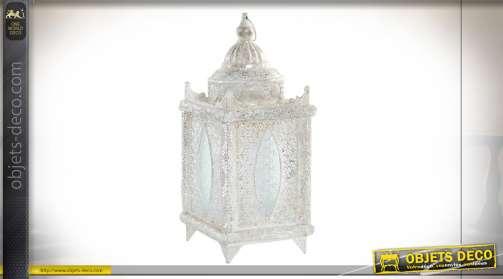 LAMPE DE TABLE MÉTAL VERRE 21,5X21,5X51 ETHNIQUE
