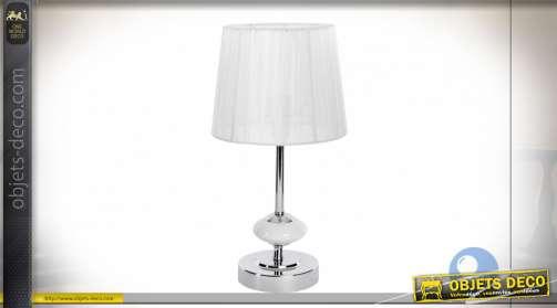 LAMPE DE TABLE MÉTAL PORCELAINE 18X18X34 2 MOD.