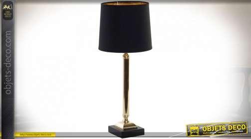 LAMPE DE TABLE MÉTAL LIN 20X20X50 NOIR