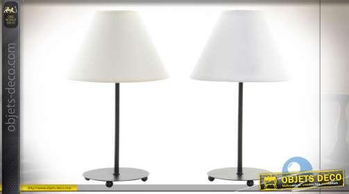 LAMPE DE TABLE MÉTAL POLYESTER 20X34 22 2 MOD.