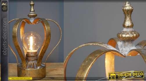 Lampe de chevet / lampe portable en forme de couronne 19cm