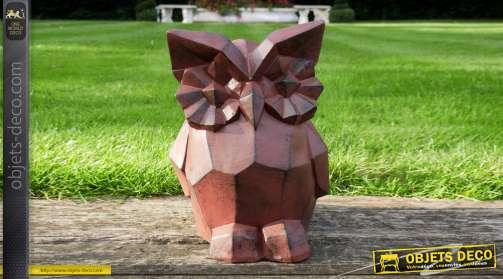 Statuette de chouette version moderne géométrique esprit origami