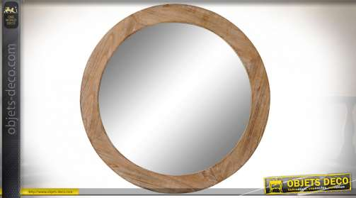 MIROIR SAPIN MDF 66X5X66 NATUREL MARRON