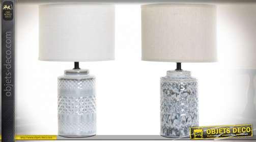 LAMPE DE TABLE PORCELAINE 23X23X40 2 MOD.