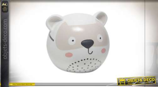 LAMPE DE TABLE PORCELAINE LED 16X15X14 PETIT CHAT