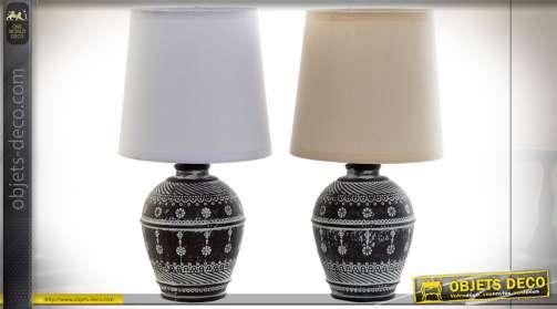LAMPE DE TABLE GRÈS COTON 16X16X30 2 MOD.