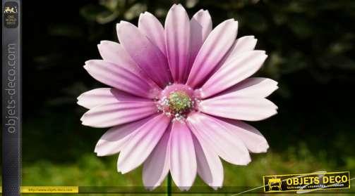 Fleurs colorées en métal, 6 différentes teintes vives, 58cm de hauteur finale