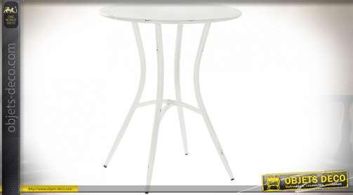 TABLE MÉTAL 60X60X72 BLANC