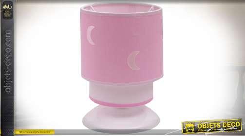 Lampe de nuit pour chambre d'enfant coloris rose clair
