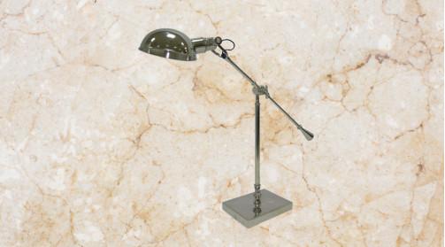 Grande lampe de bureau ou d'appoint en métal finition chromée rétro