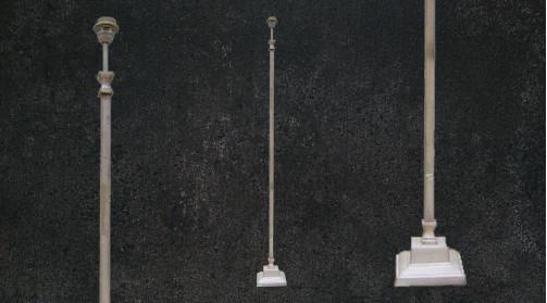 Lampadaire en métal de style moderne finition blanc