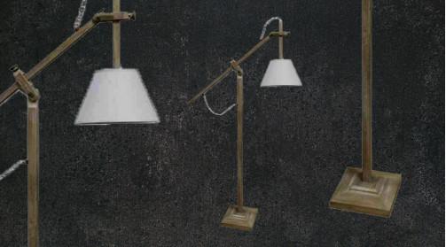 Grand lampadaire en bois finition naturelle avec abat jour blanc, ambiance moderne, bras articulé