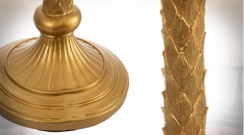 Lampadaire de 121cm de hauteur finale, en résine finition doré ancien, forme de palmier