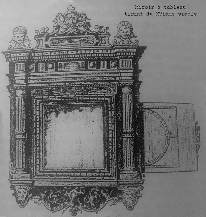 Miroir à tableau tirant du XVIème siècle